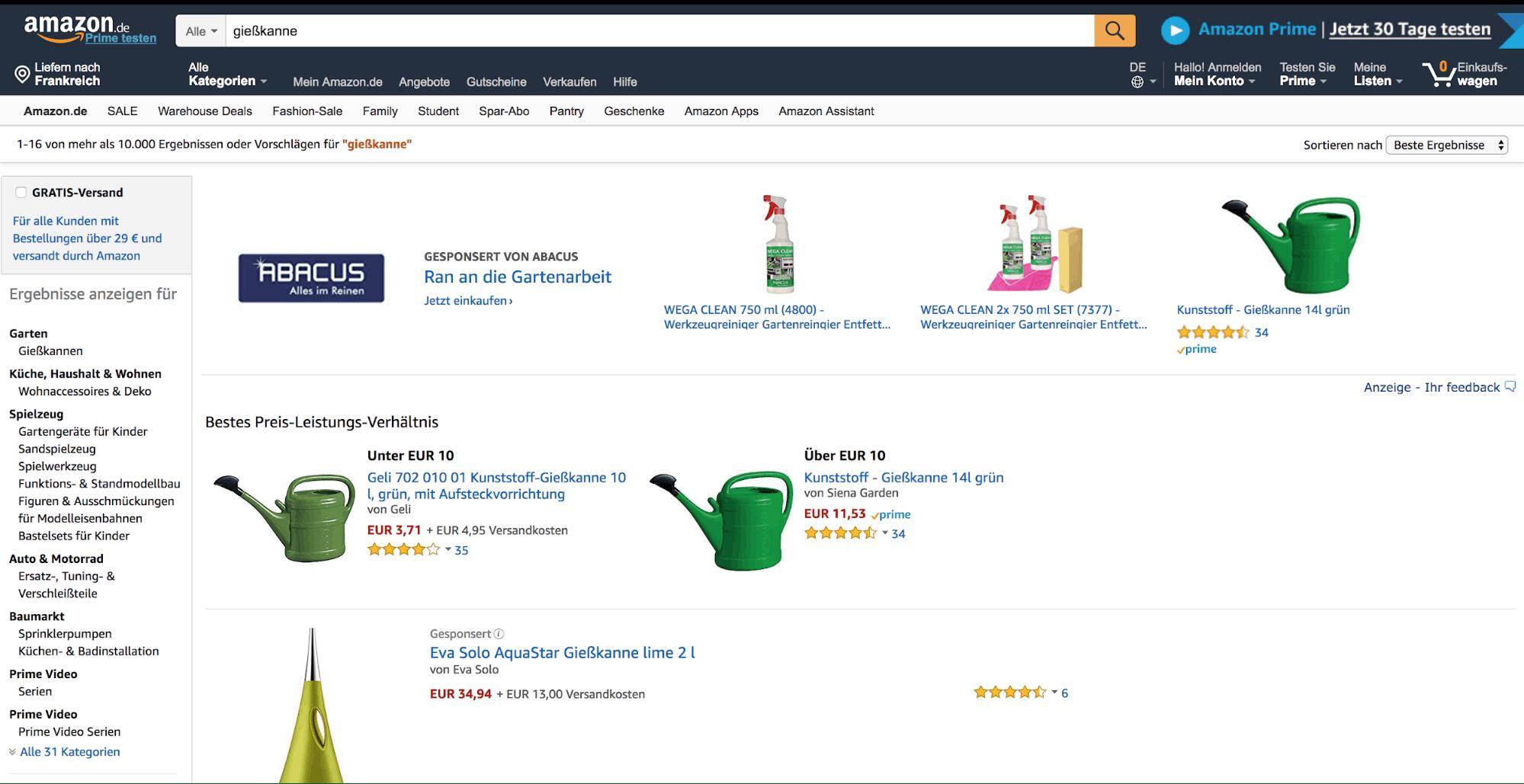 German Amazon Marketplace