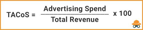 Blended ACoS: Advertising Spend over Revenue