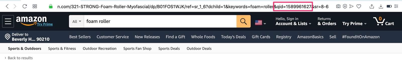 UTM time stamp from Amazon URLS
