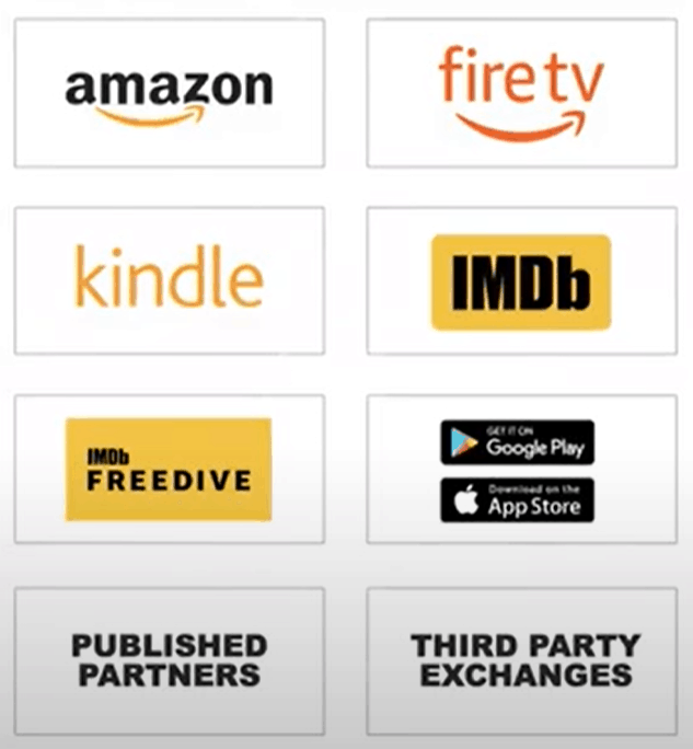 Amazon DSP off-amazon platforms like imdb, firetv, kindle, imdb freedive, and other third party exchanges